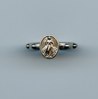 Fingerrosenkranz Ring Barmherziger Jesus Metall ca. 16 mm