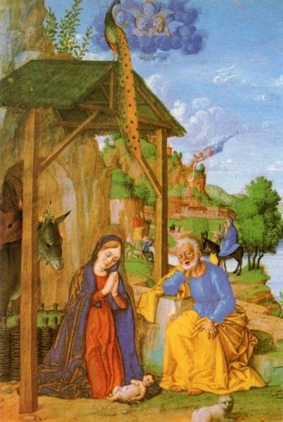 heiligenbild postkarte weihnachten jesu geburt