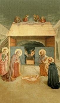 Bilder Krippe Weihnachten.Heiligenbildchen Heilige Nacht Krippe Weihnachten 12 X 7 Cm