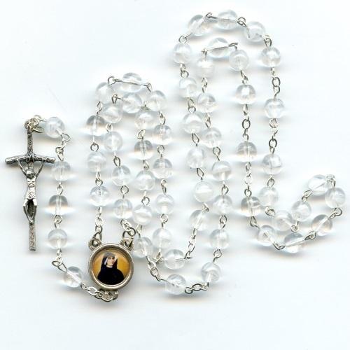 weiß-goldener Rosenkranz zu den 9 Chören der Engel mit 9x3 Perlen