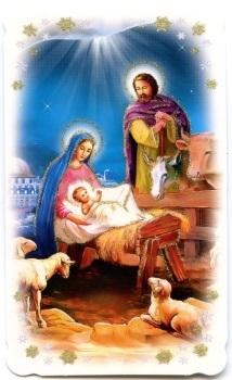 Bilder Krippe Weihnachten.Heiligenbildchen Mit Glitzer Heilige Familie Krippe Weihnachten 10 6 X 6 4 Cm