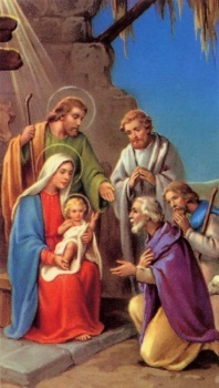 Hirten Bilder Weihnachten.Heiligenbildchen Heilige Nacht Weihnachten Hirten 12 X 6 8 Cm