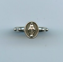 Fingerrosenkranz Ring Immaculata Metall Silberfarben ca. 21 mm